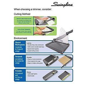 Swingline, paper trimmer, guillotine paper cutter, guillotine paper trimmer