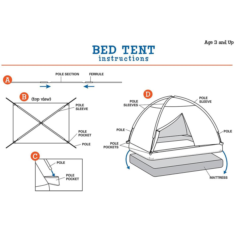 how to make a tent over a bed