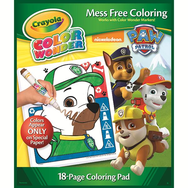 Crayola, Paw Patrol, Color Wonder Mess-Free Coloring Pad and Markers, Art  Tools