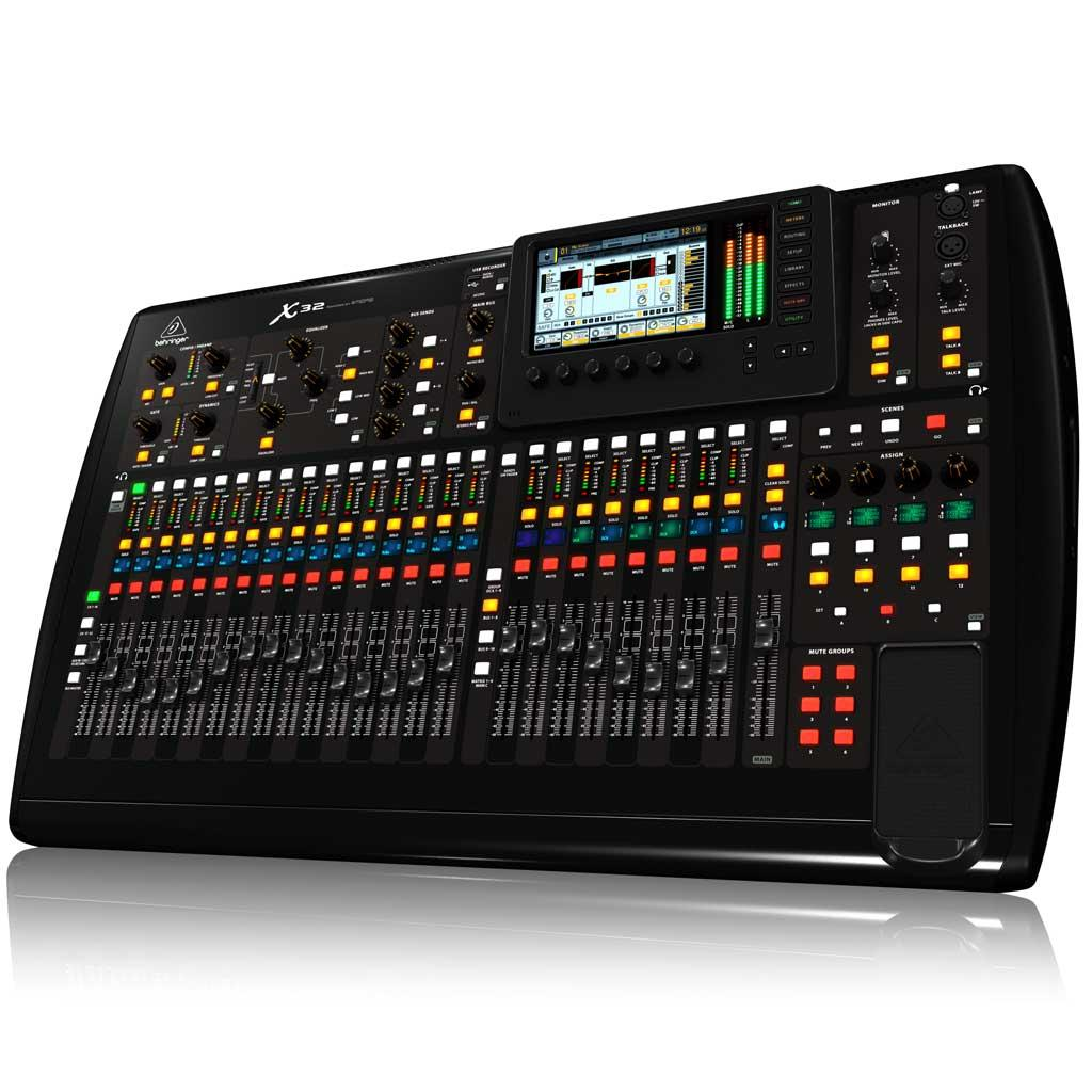 behringer x32 digital mixer black musical instruments stage studio. Black Bedroom Furniture Sets. Home Design Ideas