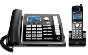 2-Line, corded, cordless, expandable, desk phone, digital answering system, business phone,