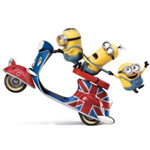 minions, despicable me, stuart, kevin, bob, british