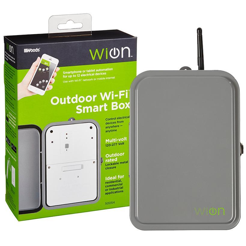 WiOn 50054 Outdoor Wi-Fi Smart Box, Wireless Time Switch