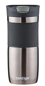 Contigo SNAPSEAL Byron Vacuum-Insulated Stainless Steel Travel Mug, 20 oz., Grayed Jade