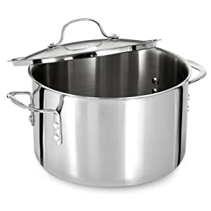 Calphalon Tri-Ply Stainless Steel 8-Quart Covered Stock Pot