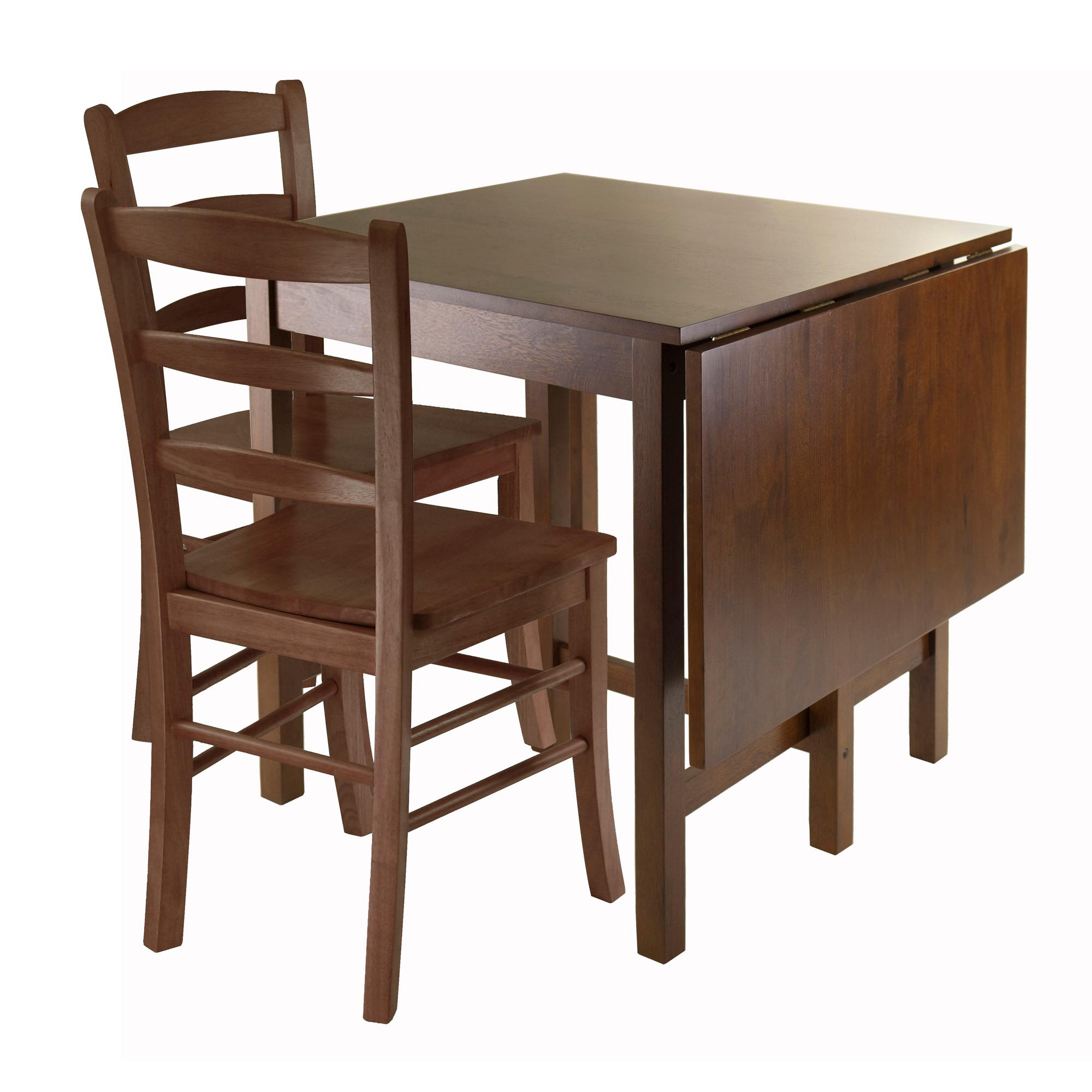 promo code cbc88 3d286 Winsome Wood Lynden 3-Piece Dining Table with 2-Ladder Back Chairs