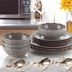 5ddd3a1b8b Amazon.com: Marchesa Shades of Grey Accent Plate by Lenox: Kitchen ...