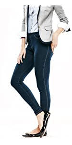 Classic Denim Leggings, denim jegging, legging with pockets, denim wash legging, comfortable jeans
