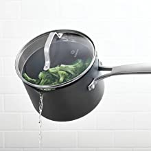 Calphalon Classic Nonstick 2.5-Quart Sauce Pan with Cover - Hard-Anodized Aluminum