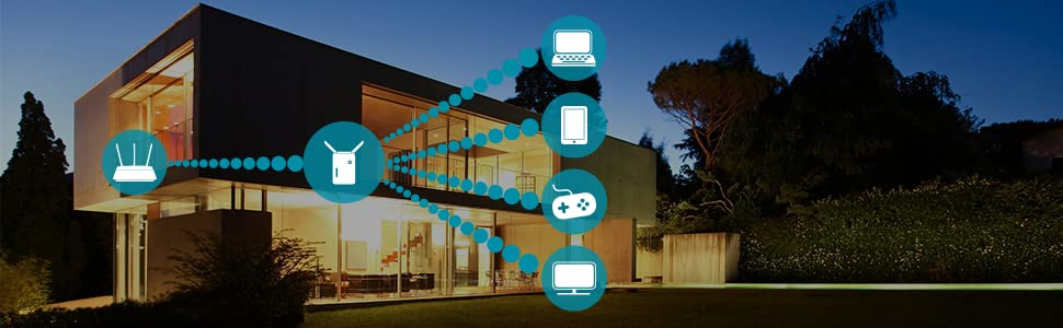 Extend your wireless network in every corner of your home