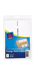 Avery Pin Fed Address Labels, Avery Postage Meter labels