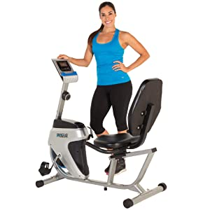 Progear 555LXT Magnetic Tension Recumbent Bike with Workout Goal Setting