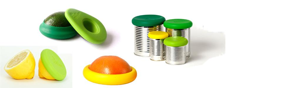 farberware, food huggers, tools and gadgets, silicone food, containers, tubberware, food storage