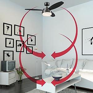 7214100 Harmony 48 Inch Brushed Nickel Indoor Ceiling Fan
