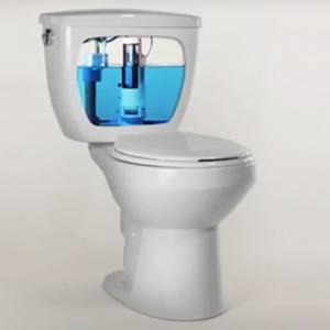 White Handle Replacement HyrdroRight Universal Water-Saving Toilet Repair Kit with Dual Flush Valve Push Btton,