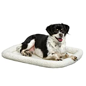 Dog on Fleece Bed