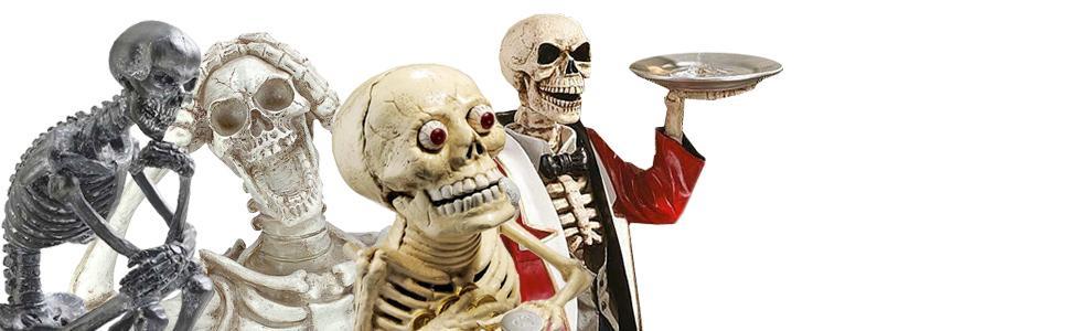 skeletons, skulss, halloween decor
