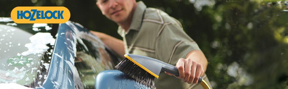 Hozelock Wheel and Car Brush Twin Pack With Shampoo 2624