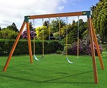 Eastern Jungle Gym A-Frame Brackets on Free Standing Swing Set