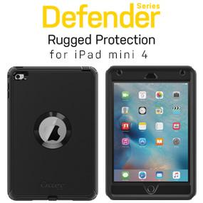 quality design bcbe5 207dc OtterBox DEFENDER SERIES Case for iPad Mini 4 (ONLY) - Retail Packaging -  BLACK