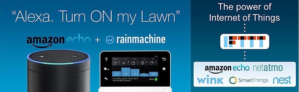 Amazon Echo, Alexa, voice commands, iot, rainmachine touch, hd-12, hd-16, ifttt
