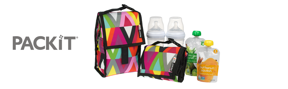 PackIt Freezable Baby Bottle Bag with Zip Closure Double Bottle Viva