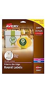Round branding labels