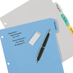 Plastic dividers, write and erase dividers, reusable dividers, durable dividers, avery dividers
