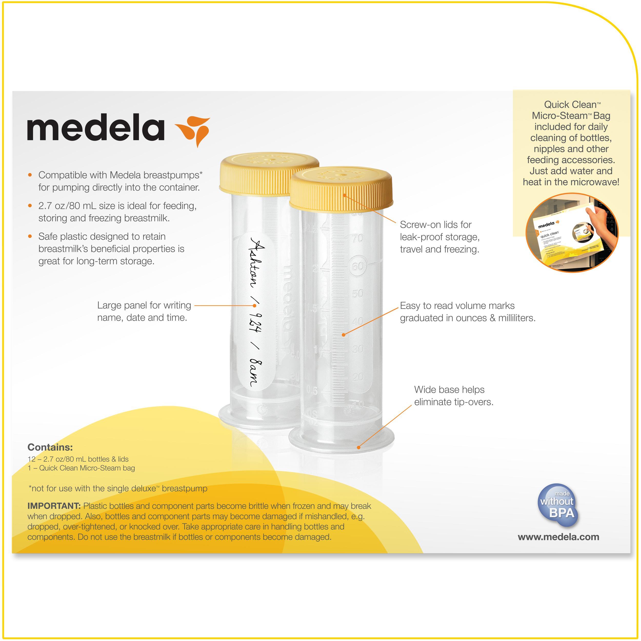 12 pack Breast Milk Freezer Storage Containers Medela