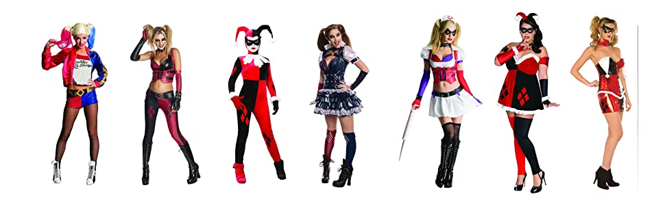 Harley Quinn Costume Adult Suicide Squad Female Superhero Halloween Fancy Dress
