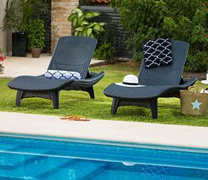 Amazon Com Keter Set Of 2 Pacific Sun Chair All Weather