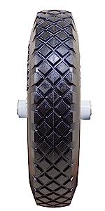 Marathon Industries 00047 4.80//4.00-8-Inch Flat Free Wheelbarrow Tire with Knobb