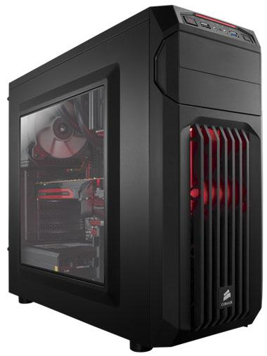 CORSAIR CARBIDE SPEC-01 Mid-Tower Gaming Case, Red LED Fan (CC-9011050-WW)
