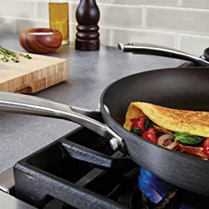 Calphalon Classic Nonstick 10-Inch Fry Pan with Cover - Aluminum for Even Heating