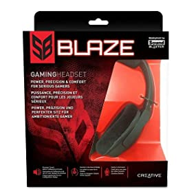 Creative Sound Blaster Blaze Gaming Headset with Detachable Noise-Cancelling Mic and In-line Remot