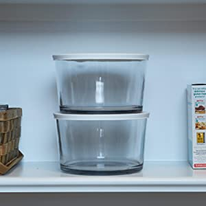 anchor hocking; glass; party bowl; trifle bowl; salad bowl; dessert bowl; stackable; storage