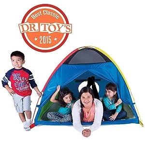 kids, tent, play