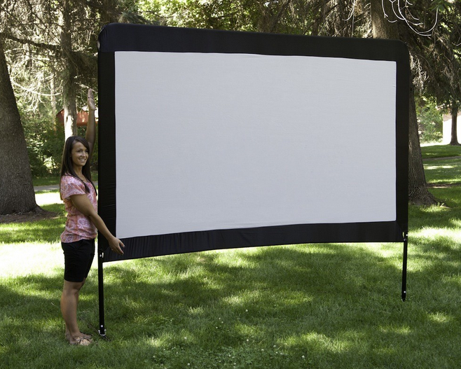Camp Chef OS120 Portable Outdoor Movie Theater Screen (120-Inch ...