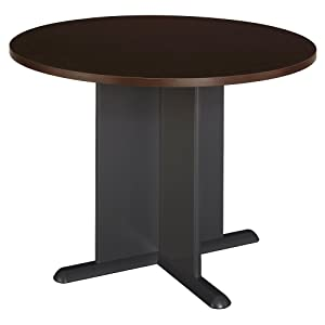 Amazoncom Round Office Conference Table In Sienna Walnut Finish - Small round meeting table
