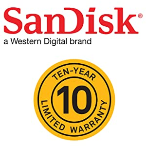 SanDisk ten year warranty