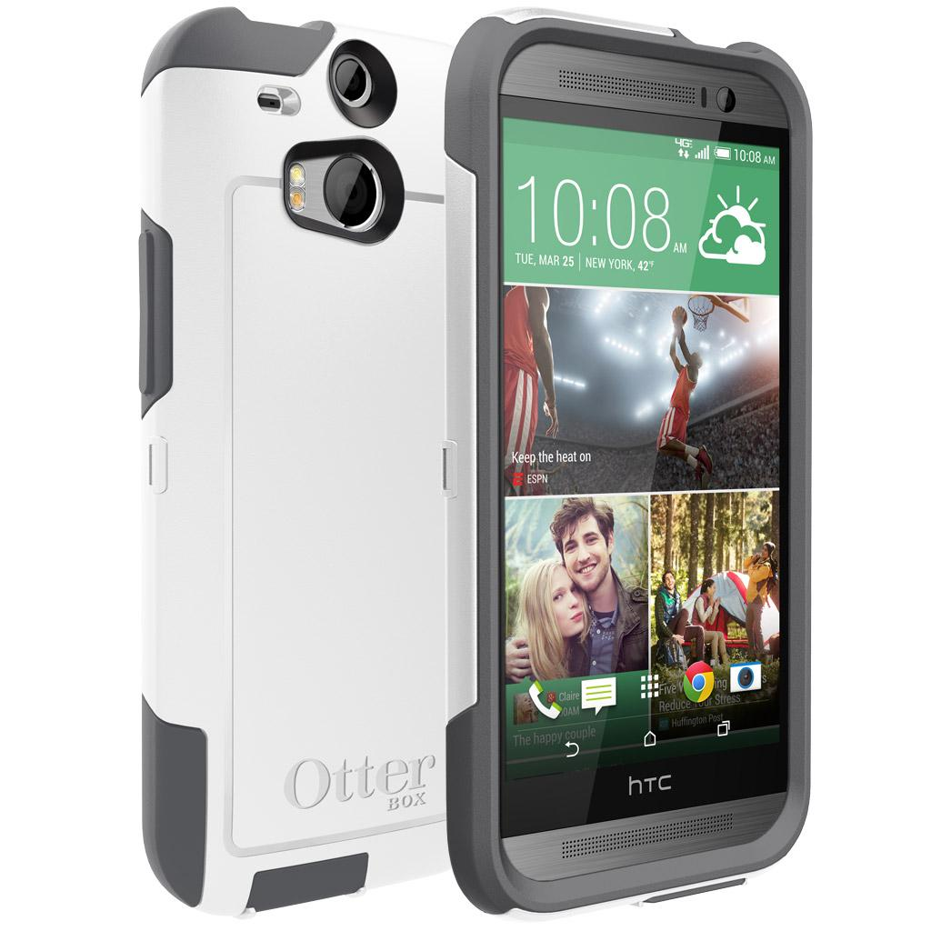meet 8c0de dd7bb OtterBox Commuter Series Case for HTC One M8 - Retail Packaging - Glacier
