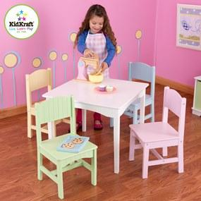 kidkraft nantucket table 4 pastel chairs. Black Bedroom Furniture Sets. Home Design Ideas