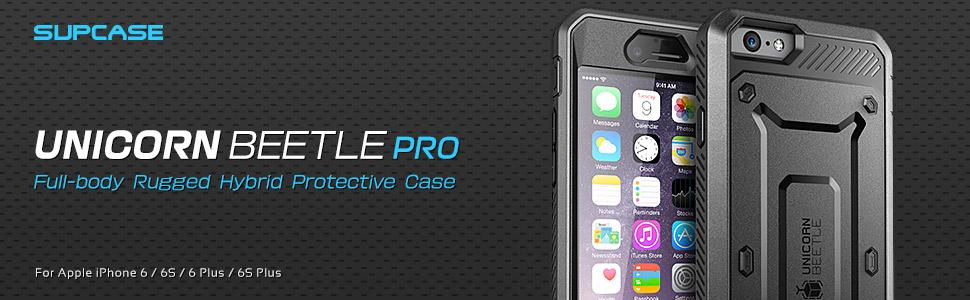 Amazon.com: SUPCASE [Unicorn Beetle Pro] Case Designed for iPhone 6S, with  Built-In Screen Protector Rugged Holster Cover for Apple IPhone 6 Case / 6S  4.7 Inch display (Black/Black)