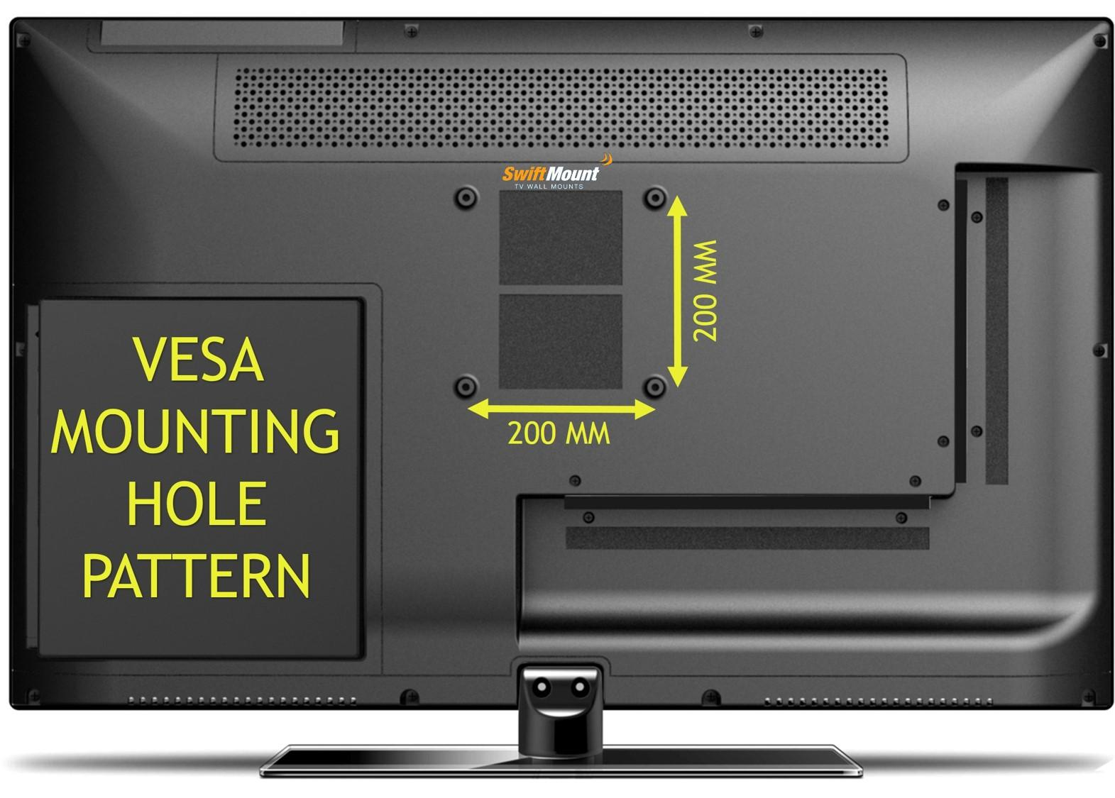 Amazon Com Swift Mount Swift100 Ap Low Profile Tv Wall Mount For Tvs Up To 25 Inch