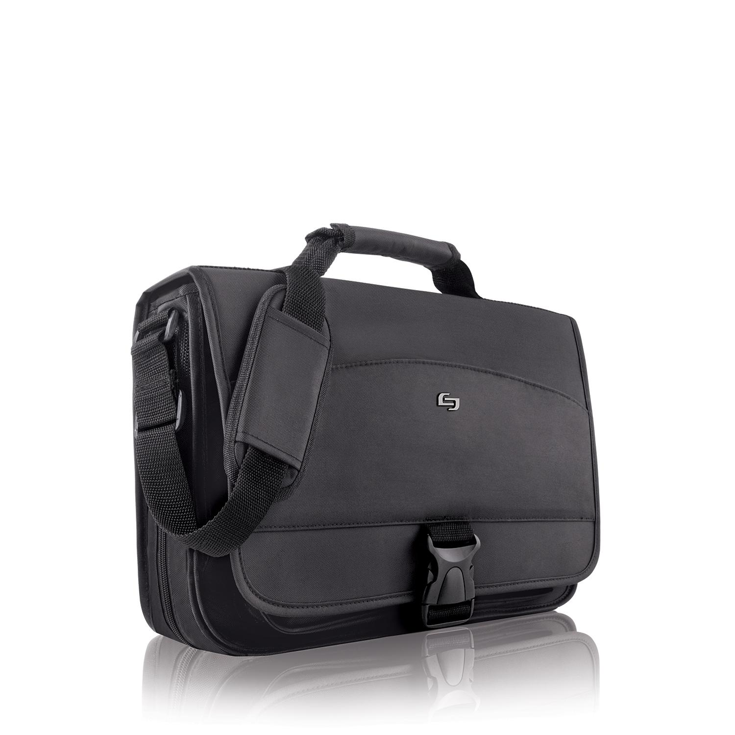 eded4ae5c2fe Solo Conquer 15.6 Inch Expandable Laptop Messenger, Black