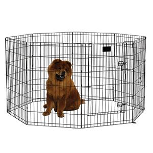 36 Exercise Pen with Dog