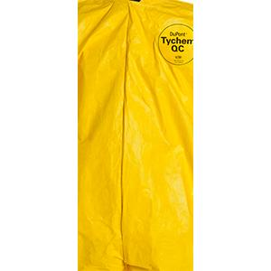 Yellow Elastic Cuff and Bound Seams Pack of 12 QC127BYLXL001200 DuPont Tychem 2000 QC127B Disposable Chemical Resistant Coverall with Hood X-Large