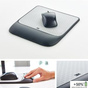 Soothing 3M Gel Technology and Satin S 3M Precise Mouse Pad with Gel Wrist Rest
