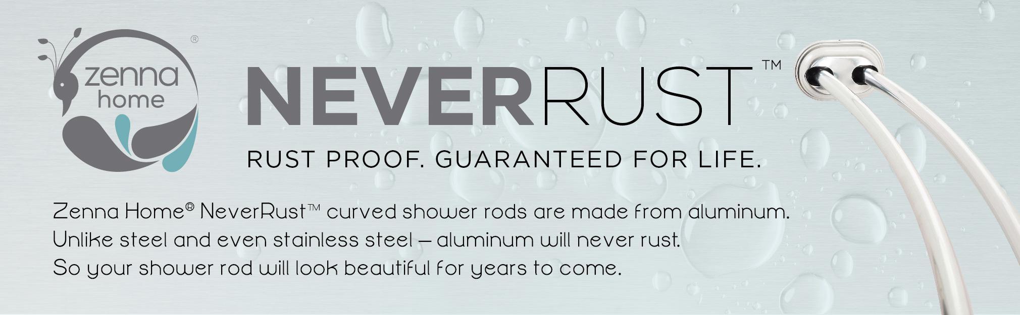 Tension Rods Shower Bathroom Bath Rust Proof