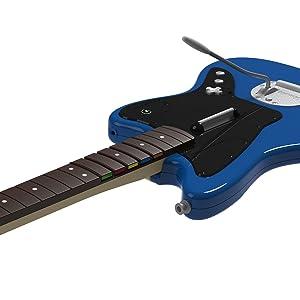 Rock Band Wireless Fender Jaguar Guitar Controller for PS4 Close Up of Frets